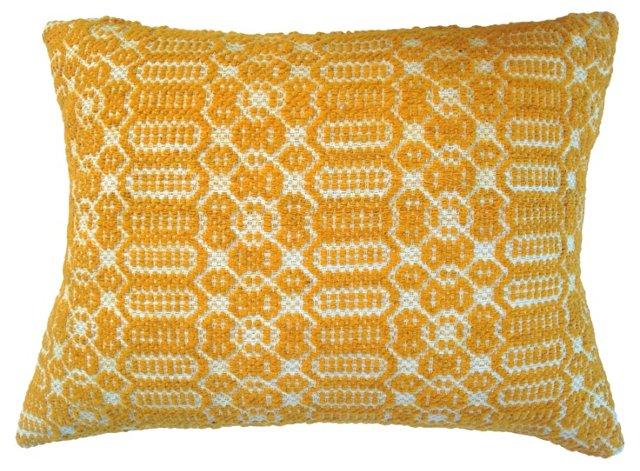 Pillow w/ 19th-C.   Textile Fragment