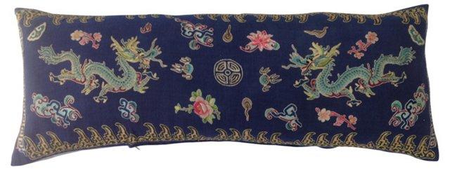 Emperors Twin Dragon Body Pillow