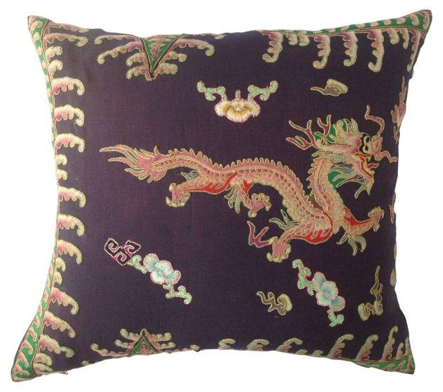 Kimono Fragment Dragon    Pillow