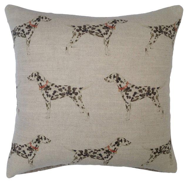 Dalmatian Linen Pillow