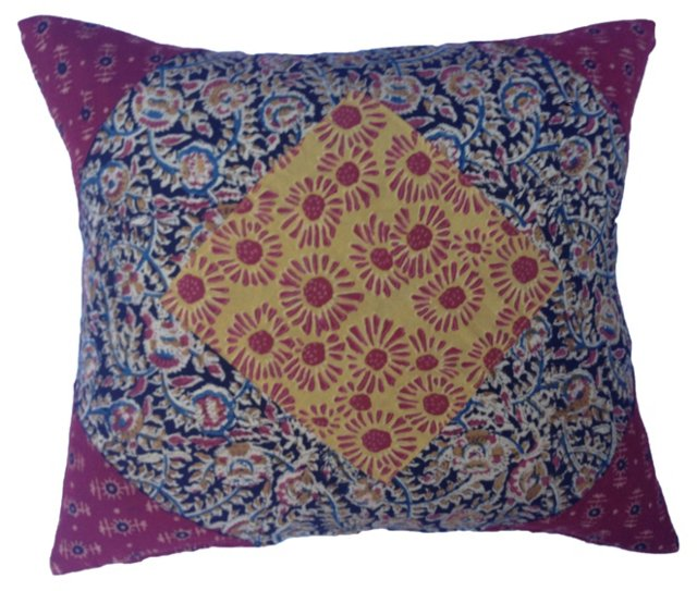 Hand-Blocked & Dyed Siwana Pillow