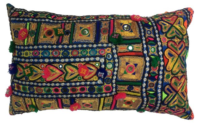 Indian Mirrored  Pillow