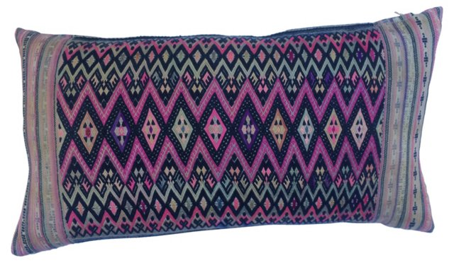 Tribal Embroidered Textile  Pillow