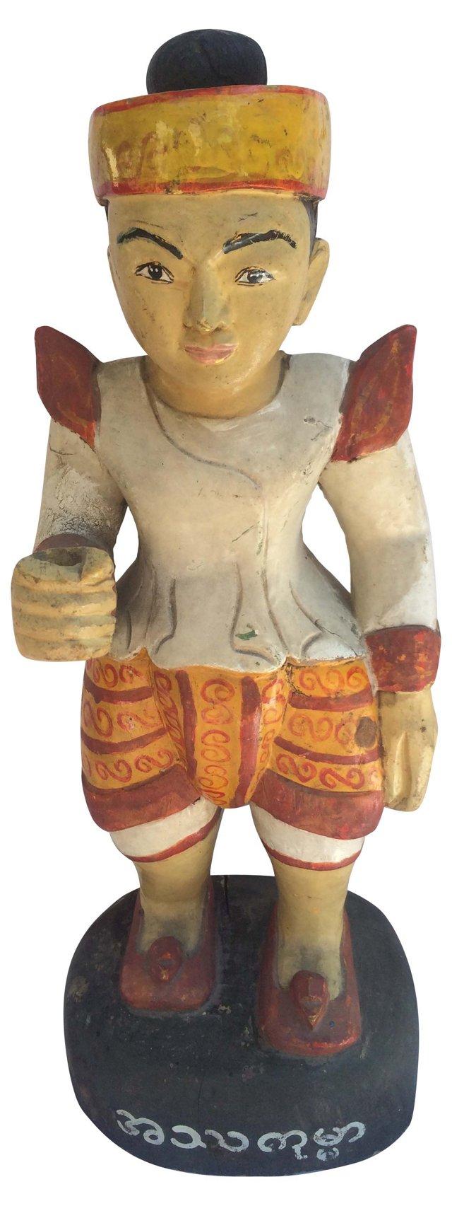 Burmese Carved Statue