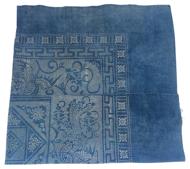 Batik Light Indigo Tribal Panel