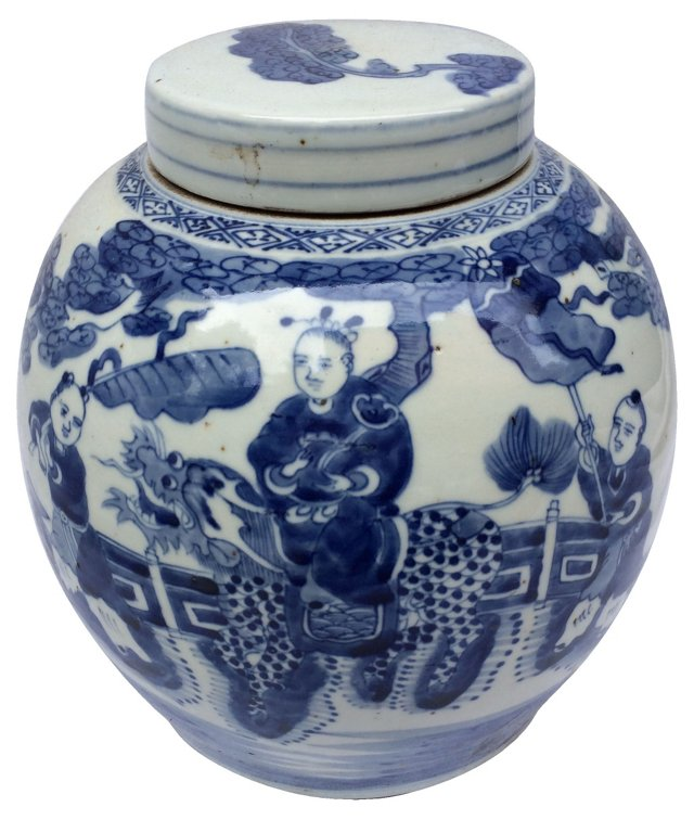 Chinese Hand-Painted Ginger Jar