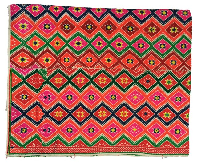 Asian Hill Tribe Marriage Quilt