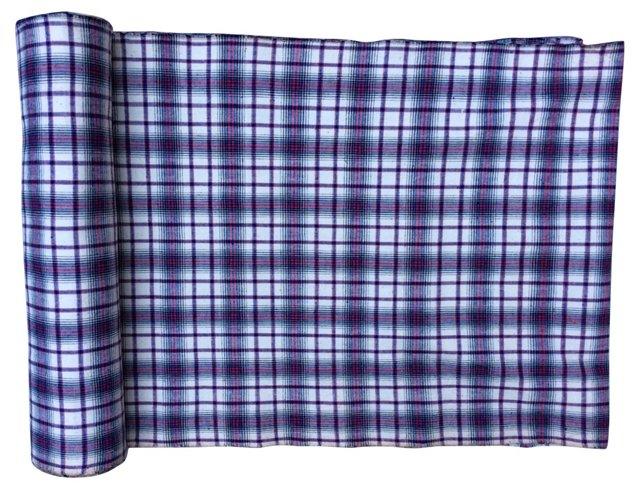 Homespun Plaid Textile, 5.6 Yds