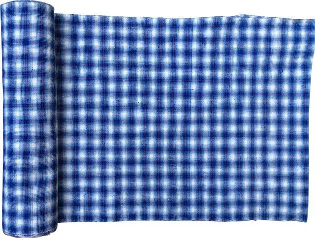 Homespun Plaid Textile, 12.9 Yds