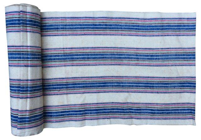 Handspun Striped Textile, 7.75 Yds