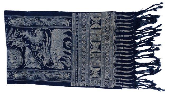 Tribal Batik Indigo Textile