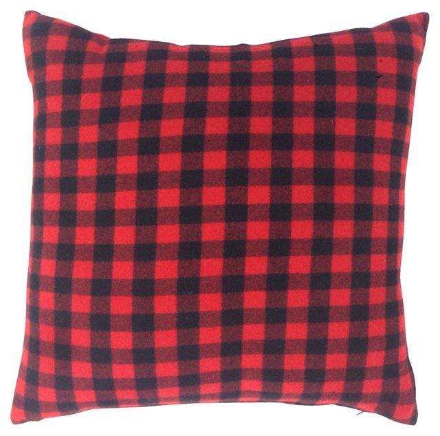 Ralph Lauren Red Cashmere Plaid Pillow