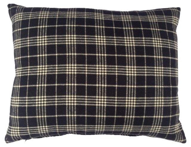 Black & White Plaid Pillow