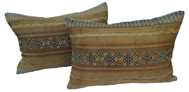 Hill Tribe Silk Pillows, Pair