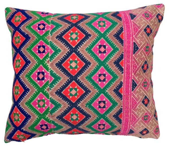 Pillow w/   Hmong Quilt Textile