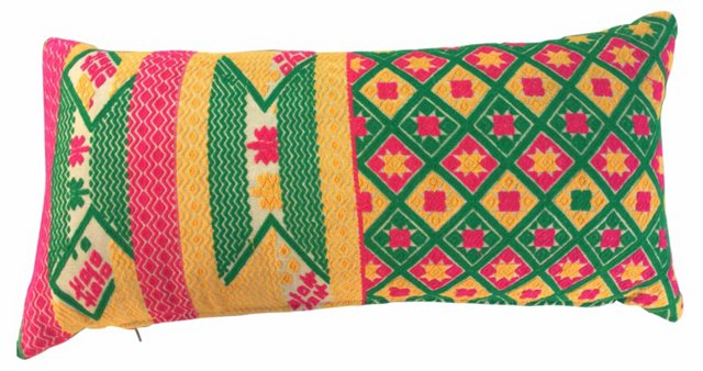 Bright Tribal Double Happiness Pillow
