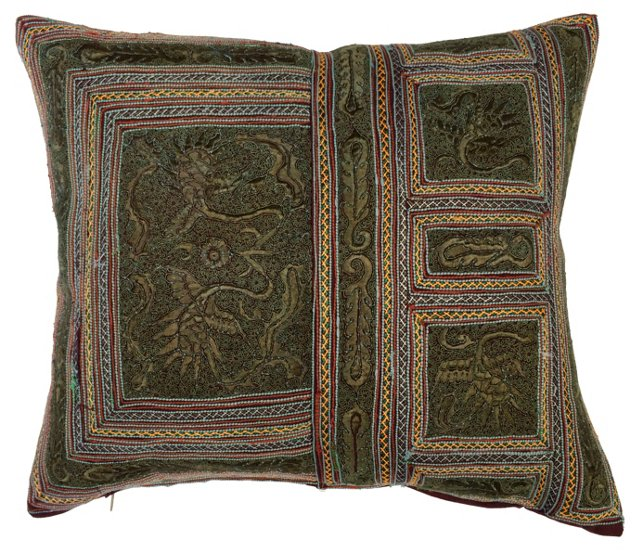 Embroidered  Yao Tribal Pillow