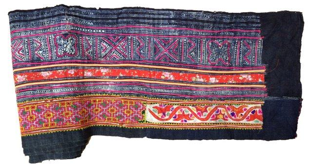Embroidered  Batik  Textile, 6.9 Yds