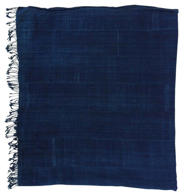 African Tribal Indigo  Textile   Throw