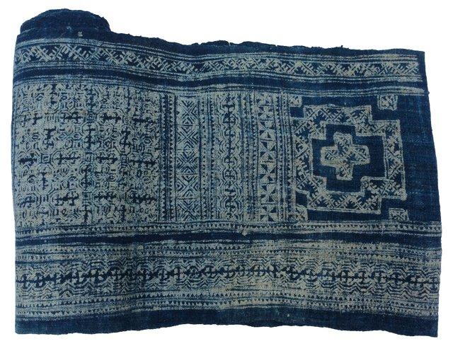 Hand-Blocked Batik  Textile, 6.1 yds