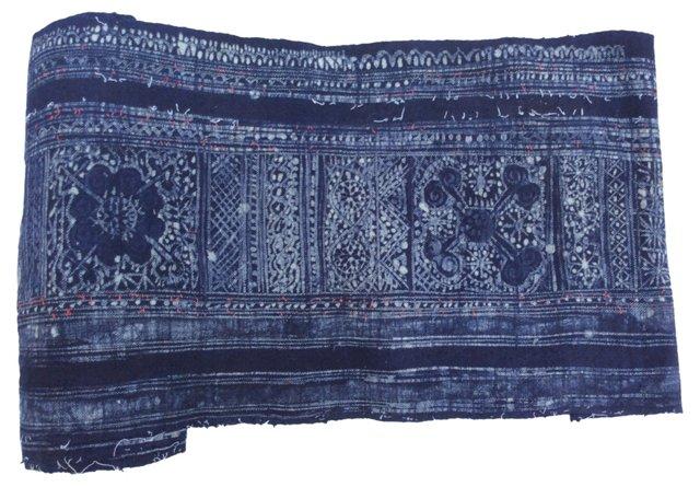 Indigo Batik Textile, 8 Yds