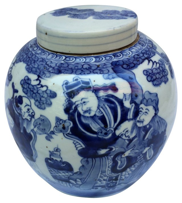 Blue & White Chinese  Ginger    Jar
