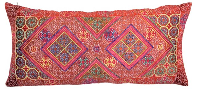 Swat Valley  Embroidered  Textile Pillow