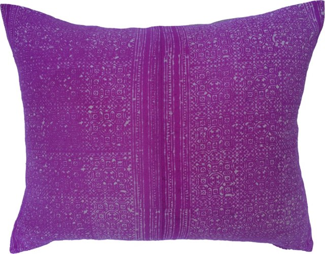 Pink Intricate Batik Linen Pillow
