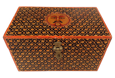 Hand-Painted Indian Box