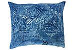 Pillow w/ Antique       Indigo Batik