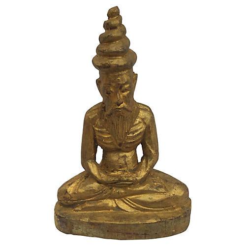 Burmese Hand-Carved Buddha
