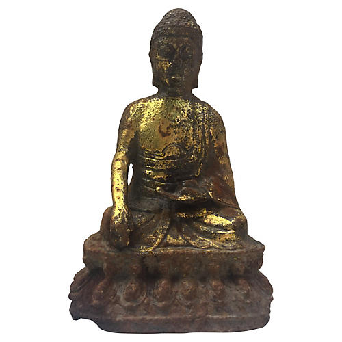 Cast Iron Seated Buddha