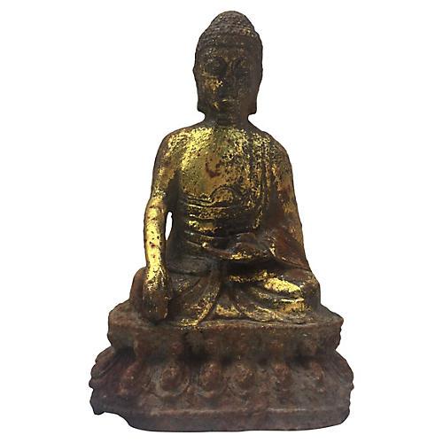 Cast Iron Seated Buddha