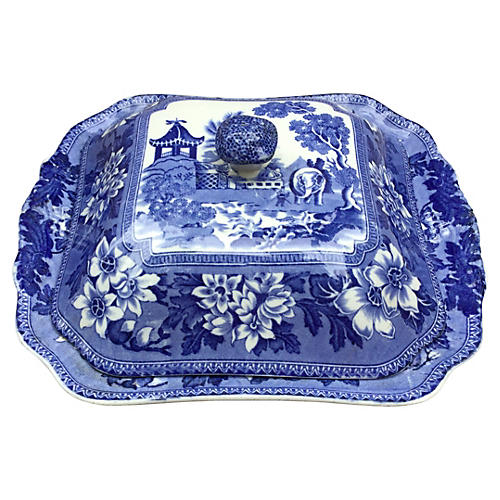 Blue & White Covered Dish