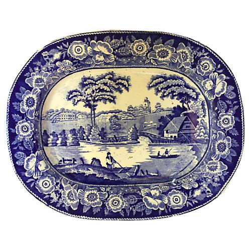 19th-C. English Country Platter