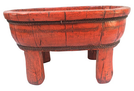 Chinese Red Lacquer Footed Bowl