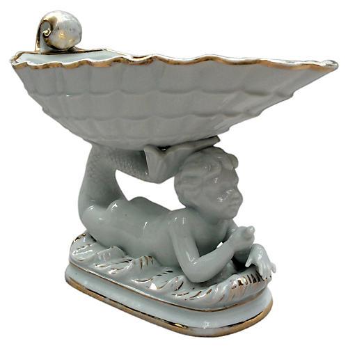 Minton Merboy & Shell Porcelain Server