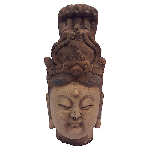 Carved Head of Goddess Quan Yin