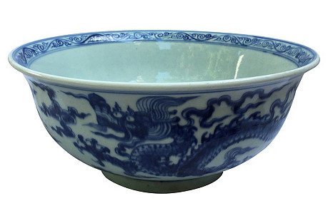 Porcelain Bowl w/ Phoenix & Dragon
