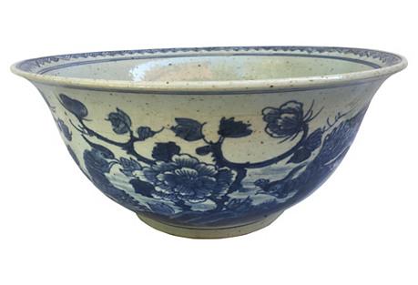 Oversize Blue & White Chinese Bowl