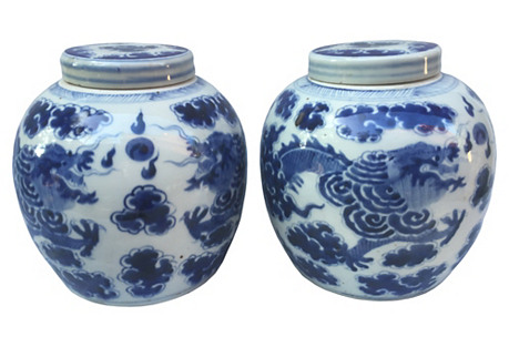 Dragon Ginger Jars, S/2