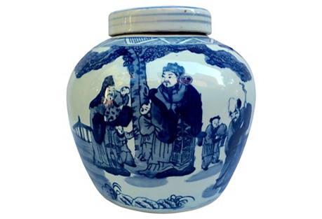 Blue & White Chinese Ginger Jar