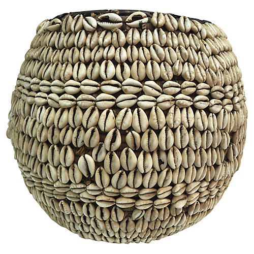 African Cowry Shell Basket