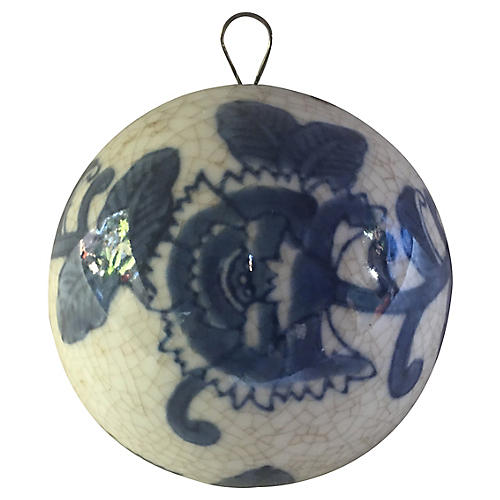 Blue & White Porcelain Christmas Ball