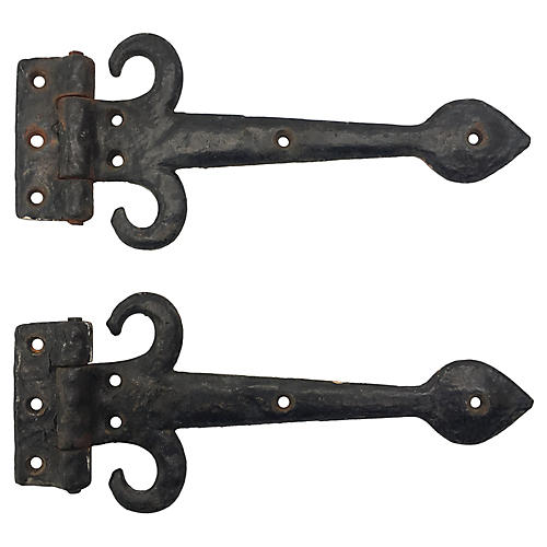 English Door Hinges, S/2