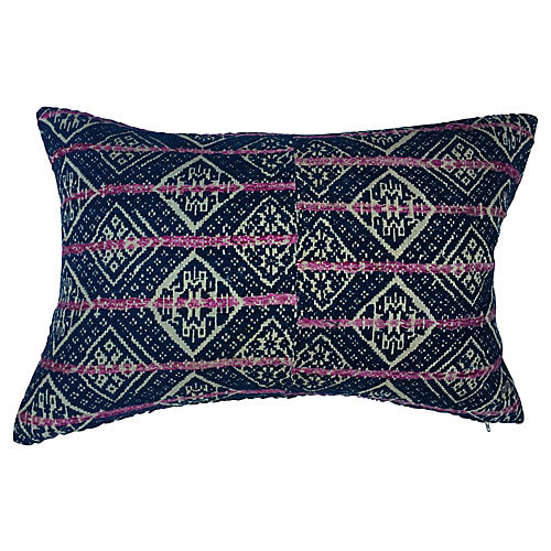 Hand Woven Wedding Quilt Pillow