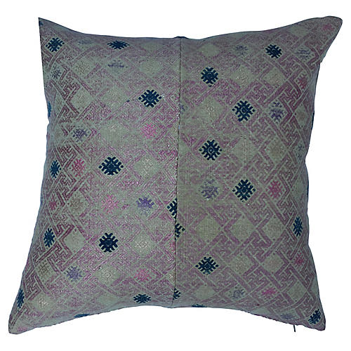 Hand Woven Silk Wedding Quilt Pillow