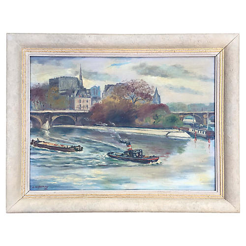 Le Vert Galant, Paris Painting, 1936