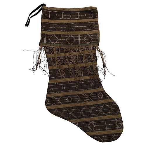 Tribal Textile Christmas Stocking