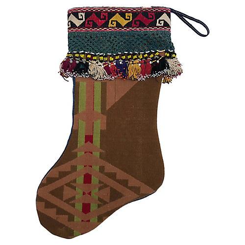 Vintage Pendleton Blanket Xmas Stocking